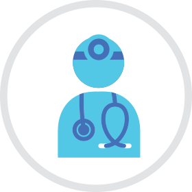 Respiratory physician icon
